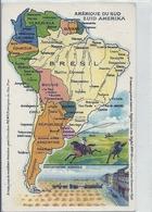 2019 - FRANCE - AMERIQUE DU SUD- Carte Du Continent  - Colorisée Et Détaillée - Postcards