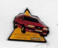 Pin's  SUISSE  Ville, Automobile  VOLVO  Rouge, Garage  AUTOSPORT  S.A  T . MATTEI  à  1400  Yverdon-les-Bains, - Pin's