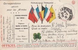 """CP De FM """"Au Trèfle"""" Et Au 5 Drapeaux. Edit. Jeangette - Tours. Carte Postée D'Angoulême. - Marcofilie (Brieven)"""