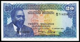 # # # Banknote Kenia (Kenya) 20 Schillingi 1975 AU+ # # # - Kenia