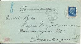 Italy Nazi Censored Cover Sent To Denmark Genova 30-9-1940 Single Franked - 1900-44 Vittorio Emanuele III