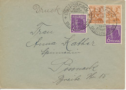 Germany Allied Occupation Zone Cover Pössneck 25-6-1948 - American,British And Russian Zone