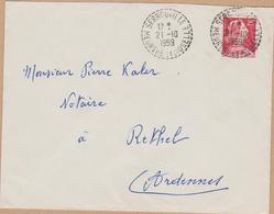 ENVELOPPE 1959 SERROUVILLE - Marcophilie (Lettres)