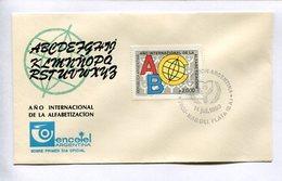 AÑO INTERNACIONAL DE LA ALFABETIZACIÓN. ALPHABETISARION. 1990 MAR DEL PLATA ARGENTINE ENVELOPE FDC -LILHU - Other