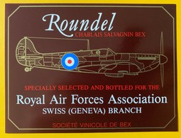 11377 -   Roundel Salvagnin Bex Suisse For The Royal Air Forces Association Swiss (Geneva) Branch - Avions