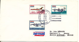 Micronesia Cover Sent To Denmark 23-9-1986 Set Of 3 Aeroplane Stamps - Micronésie