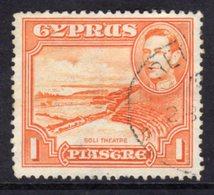 CYPRUS - 1938-1951 1938 ONE PIASTRE KGVI FINE USED SG 154 REF A32 - Cyprus (...-1960)