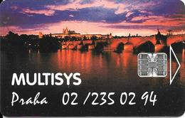 CARTES-1998-TCHECOSLOVAQUIE-PUCE SC7-PRAGUE-MULTISYS-TBE - Tchécoslovaquie