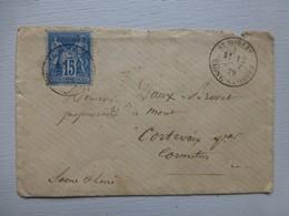 71 Saint-Sorlin, Cachet 1879 Sur 15 C Sage, Pour Cormatin  Ref 482 ; PAP05 - Poststempel (Briefe)