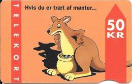 CARTE-MAGNETIQUE-DANEMARK-50KR-31/12/95-KANGOUROU -R°Laqué-Utilisé-TBE- - Danemark