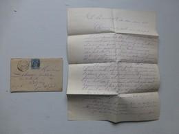 70 Mont-Saint-Vincent 1883, Pour Saint-Sorlin, Avec TB Lettre Héritage  Ref 483 ; PAP05 - Poststempel (Briefe)