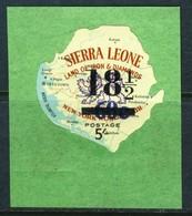 """1967 Sierra Leone Scarce Self Stick Overprinted Stamp MNH OG """"New York Worlds Fair"""" 18 1/2 On 5 Shillings # 382 - Sierra Leone (1961-...)"""