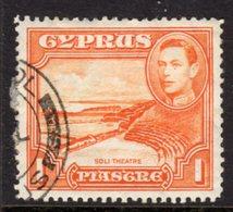 CYPRUS - 1938-1951 1938 ONE PIASTRE KGVI FINE USED SG 154 REF B1 - Cyprus (...-1960)