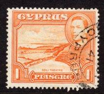 CYPRUS - 1938-1951 1938 ONE PIASTRE KGVI FINE USED SG 154 REF B3 - Cyprus (...-1960)