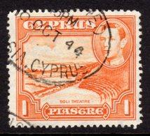 CYPRUS - 1938-1951 1938 ONE PIASTRE KGVI FINE USED SG 154 REF B4 - Cyprus (...-1960)