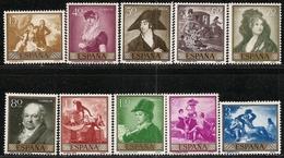 1958-ED. 1210 A 1219-SERIE COMPLETA-PINTURAS DE GOYA-NUEVO SIN FIJASELLOS- MNH - 1931-Hoy: 2ª República - ... Juan Carlos I