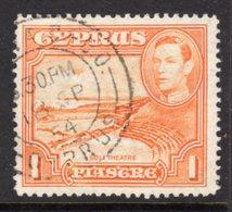 CYPRUS - 1938-1951 1938 ONE PIASTRE KGVI FINE USED SG 154 REF B5 - Cyprus (...-1960)