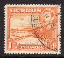 CYPRUS - 1938-1951 1938 ONE PIASTRE KGVI FINE USED SG 154 REF B6 - Cyprus (...-1960)