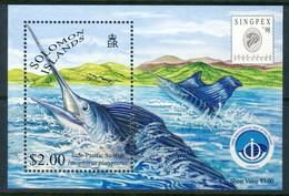 "1998 Solomon Islands MNH OG ""Sailfish"" Souvenir Sheet Issued For ""Singpex"" Block 54 - Salomon (Iles 1978-...)"