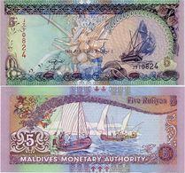 MALDIVES       5 Rufiyaa       P-18e       7.3.2011 / AH1432       UNC - Maldive