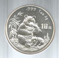 Cina, 1996, 10 Y. Panda Fondo Specchio, Cifre Della Data Grandi. - Cina