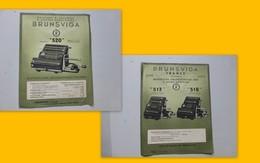 Machines à Calculer BRUNSVIGA 1950, PUB Recto-verso 21x27 Ref 509 ; PAP05 - Publicités