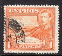 CYPRUS - 1938-1951 1938 ONE PIASTRE KGVI FINE USED SG 154 REF B11 - Cyprus (...-1960)