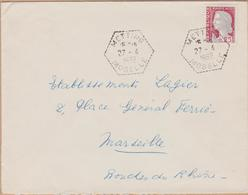ENVELOPPE TIMBRE 1962 METTING( MOSELLE) - 1961-....