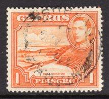CYPRUS - 1938-1951 1938 ONE PIASTRE KGVI FINE USED SG 154 REF B14 - Cyprus (...-1960)
