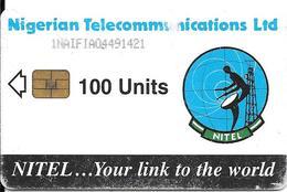 CARTE-PUCE-NIGERIA-100U-NITEL-ANTENNE RADIO-UTILISE-BE-RARE - Nigeria