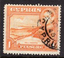 CYPRUS - 1938-1951 1938 ONE PIASTRE KGVI FINE USED SG 154 REF B16 - Cyprus (...-1960)