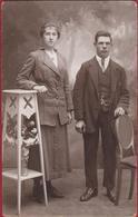 Oude Foto Studio Portrait Couple Koppel Romance Romantiek Old Photo 1920's Photographie Joseph Klapdorp Antwerpen - Hochzeiten