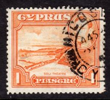 CYPRUS - 1938-1951 1938 ONE PIASTRE KGVI FINE USED NICOSIA SG 154 REF B17 - Cyprus (...-1960)