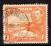 CYPRUS - 1938-1951 1938 ONE PIASTRE KGVI FINE USED SG 154 REF B18 - Cyprus (...-1960)