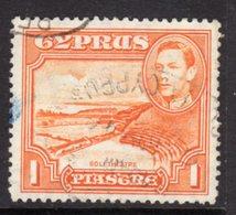 CYPRUS - 1938-1951 1938 ONE PIASTRE KGVI FINE USED SG 154 REF B20 - Cyprus (...-1960)