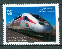MOROCCO MAROKKO MAROC 2019 TRAIN A GRANDE VITESSE: AL BORAQ EMISSION 21-03-2019 - Marocco (1956-...)