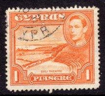 CYPRUS - 1938-1951 1938 ONE PIASTRE KGVI FINE USED SG 154 REF B23 - Cyprus (...-1960)