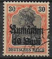 GERMANIA REICH OCCUPAZIONI DELLA ROMANIA 1918 FRANCOBOLLI DEL 1905-16 SOPRASTAMPATI UNIF.30 USATO VF - Occupazione 1914 – 18