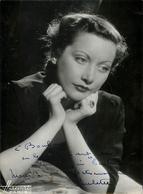 Photo Dédicacée Paulette ?? - à Identifier - à Georges Bouban Maquilleur - Photo Harcourt - 13x18cm - Photographie