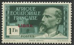 AFRIQUE EQUATORIALE FRANCAISE - AEF - A.E.F. - 1940 - YT 133** - A.E.F. (1936-1958)