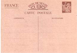 Carte Postale Interzone YV Sans Valeur-CP1 Iris Carte Entier 0,90F - Postal Stamped Stationery