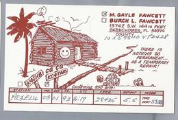 US.- QSL KAART. CARD. K4CHB. BURCH L. FAWCETT. KC4TAR. M. GAYLE FAWCETT. OKEECHOBEE COUNTY FLORIDA.. U.S.A. - Radio-amateur