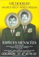 """Carte Postale édition """"Dix Et Demi Quinze"""" - Espèces Menacées (Maurice Risch - Patrick Préjean) Michodière (billets) - Theatre"""