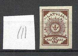 LETTLAND Latvia 1919 Michel 21 Vertically Striped Paper Senkrecht Geriffeltes Papier MNH - Lettland