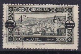 GRAND-LIBAN - 4 P. Sur 0 Pi 25 Oblitéré Avec Surcharge Maigre - Great Lebanon (1924-1945)