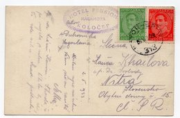 1933 YUGOSLAVIA, CROATIA, SHIP MAIL KOTOR -SPLIT 356, TO NITRA, SLOVAKIA, KOLOCEP, ILLUSTRATED POSTCARD, USED - Croatia