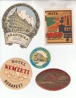 4631  LOT  PAPIER  REKLAME    HOTEL - Etiketten Van Hotels