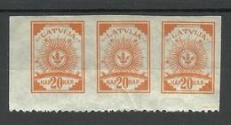 Lettland Latvia 1919 Michel 10 B As 3-stripe * - Lettland