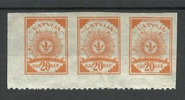 Lettland Latvia 1919 Michel 10 B As 3-stripe * - Lettonia