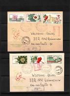 Romania 1965 Flowers 2 Interesting Registered Letters - Pflanzen Und Botanik